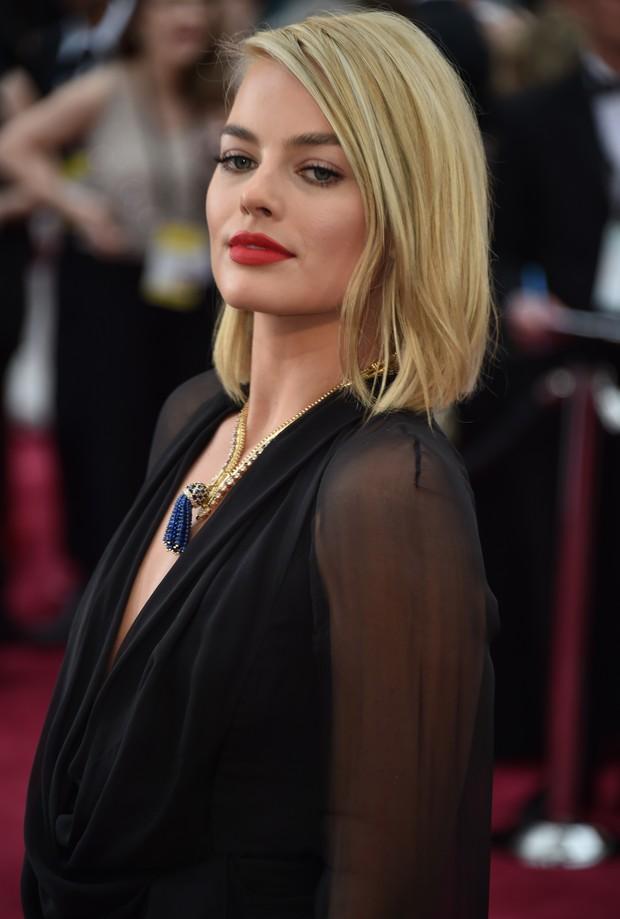 Margot Robbie no Oscar 2015 (Foto: AFP)