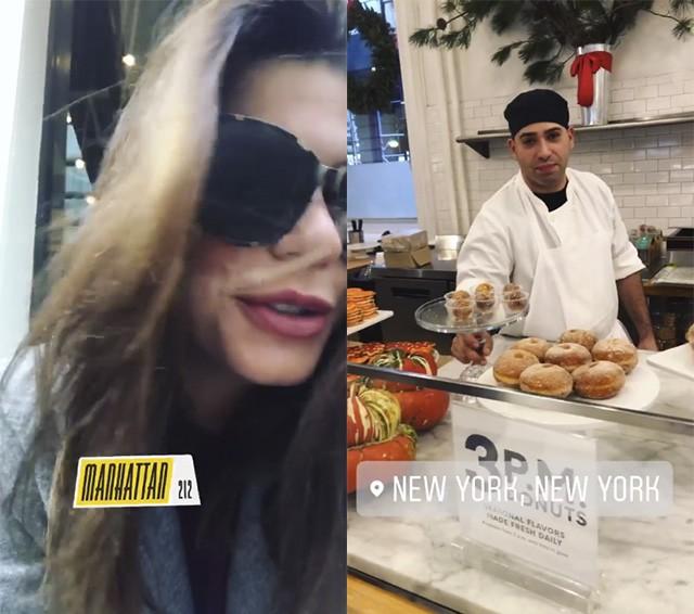 Mari Goldfarb recusou os bolinhos oferecidos por funcionário de loja gourmet (Foto: reprodução/instagram)