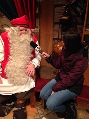 Time de futebol Papai Noel (Foto: Karina Falzoni)