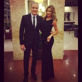 Roberto Justus e namorada (Foto: Reprodução/Instagram)