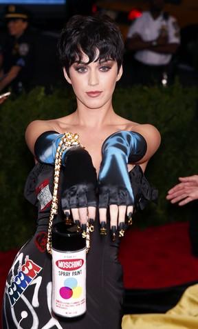 Katy Perry no baile de gala do MET, em Nova York (Foto: Reuters)