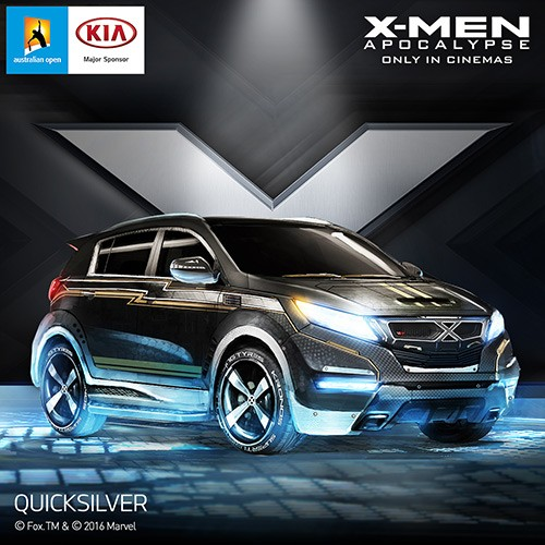 Kia Sportage inspirado no personagem Mercúrio, de X-Men: Apocalipse (Foto: Kia)