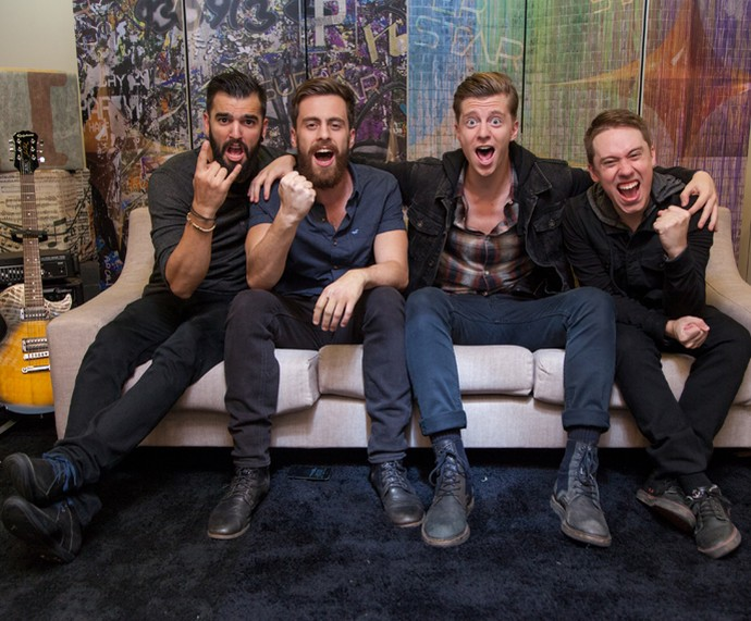 Scalene vibra nos bastidores do SuperStar  (Foto: Fabiano Battaglin/GShow)