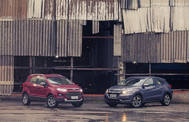 Comparativo: Ford EcoSport 1.6 Powershift x Honda HR-V 1.8 CVT