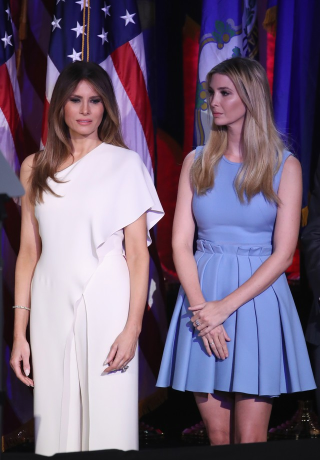 Melania Trump, de Ralph Lauren, e Ivanka Trump (Foto: Getty Images)