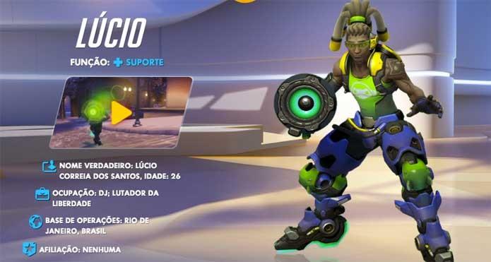 O brasileiro Lucio é um dos personagens de Overwatch (Foto: Reprodução/Felipe Vinha)