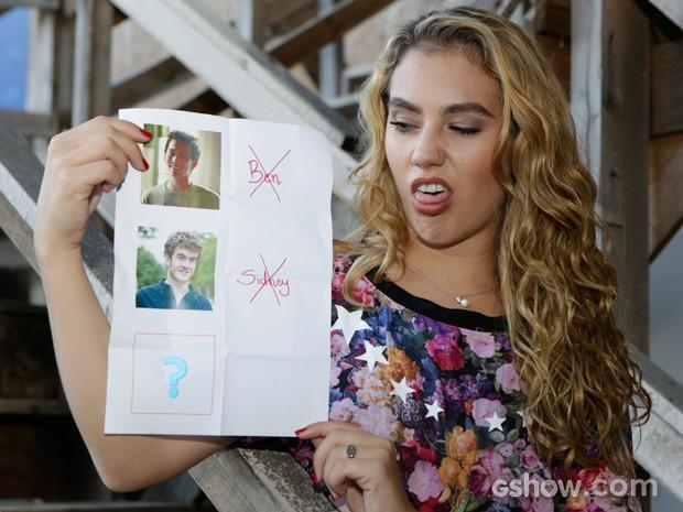 A atriz quer que o personagem seja de fora do grupinho de amigos (Foto: Fábio Rocha / TV Globo)