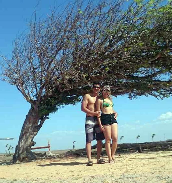Anderson e Jéssica em Parnaíba-PI (Foto: Arquivo pessoal)