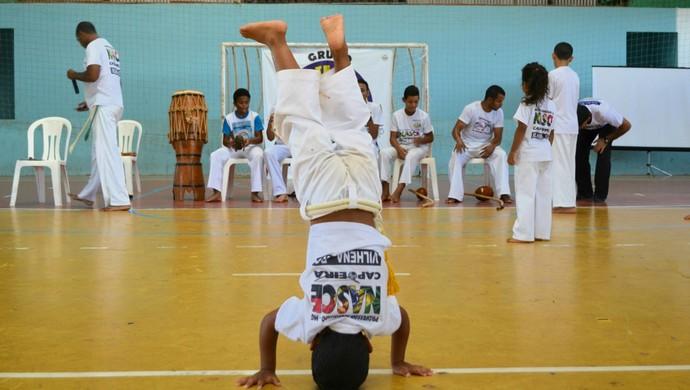 Projeto de capoeira em Vilhena (Foto: Aline Lopes)