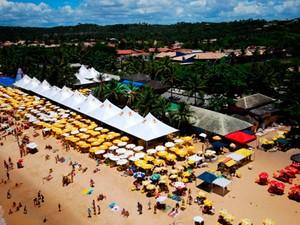 Barraca Axé Moi foi alvo de ação e poderá ser demolida em Porto Seguro (Foto: Divulgação)