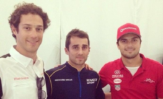 Bruno Senna, Nicolas Prost e Nelsinho Piquet na Fórmula E (Foto: Reprodução)