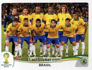 brasil time posado seleção brasileira album de figurinha copa do mundo