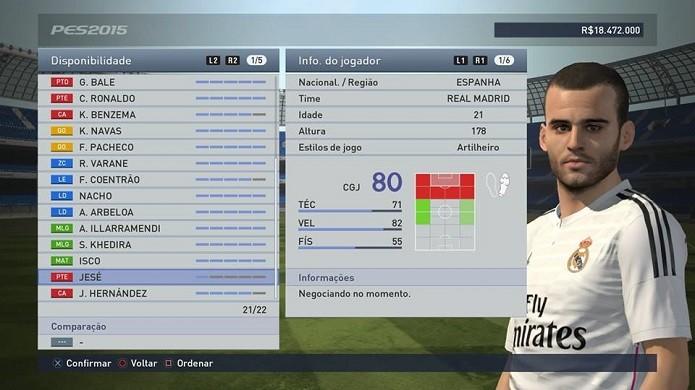 Jesé é rápido e goleador (Foto: Reprodução/Thiago Barros)