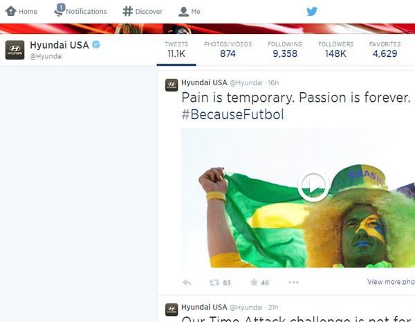Hyundai aposta que a paixão pelo futebol supera a dor. (Foto: Reprodução)