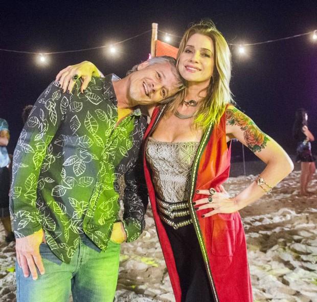 Leticia Spiller com Marcello Novaes  (Foto: João Miguel Junior / TV Globo)