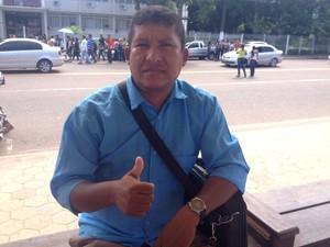 Agentes comunitários de saúde, paralisação, protesto, parcelamento do 13º, Amapá, Macapá (Foto: Jorge Abreu/G1)