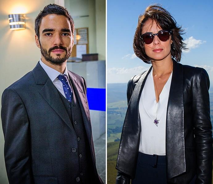 Em 'Império', Caio Blat e Andreia Horta eram os irmãos José Pedro e Maria Clara (Foto: Alex Carvalho/Globo)