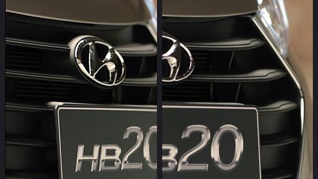 Teaser dá detalhes da grade do novo Hb20 (Foto: reprodução)