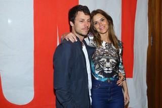 Carolina Dieckmann com o marido, Tiago Worcman, em festa na Zona Sul do Rio (Foto: Marcello Sá Barretto/ Ag. News)