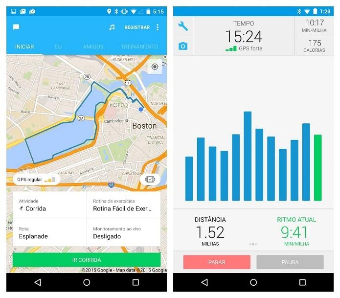 RunKeeper fornece informações detalhadas como o tempo, ritmo e distância percorrida (Foto: Divulgação)