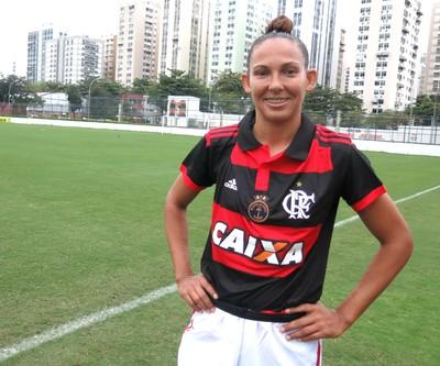 Vigia, centroavante do Flamengo, marcou sete gols contra o Bangu (Foto: Jessica Mello / GloboEsporte.com)