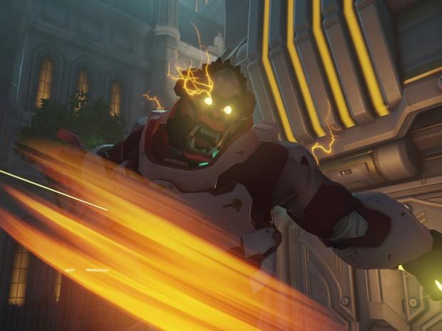Winton é um gorila super inteligente normalmente, mas perde a calma às vezes em 'Overwatch' (Foto: Divulgação/Blizzard)