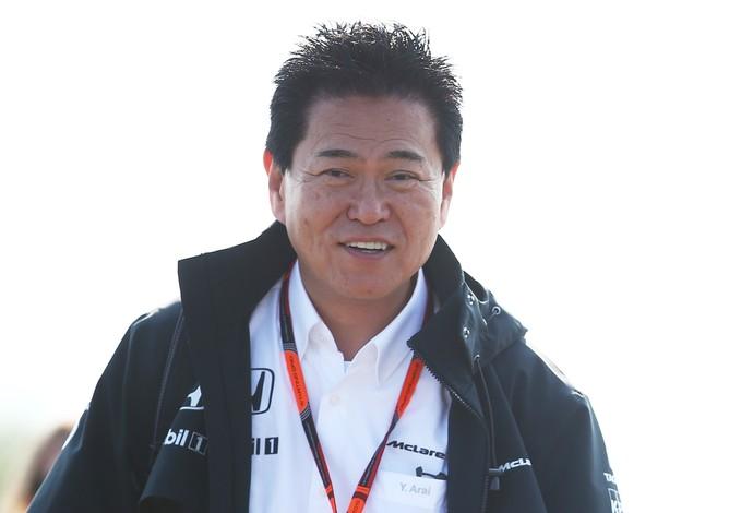 O diretor da Honda, Yasuhisa Arai, admite que está sob pressão, mas acredita no sucesso da nova McLaren-Honda (Foto: Getty Images)
