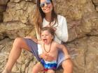 Joana Balaguer posta foto fofa com o filho: 'Bom dia alegria'