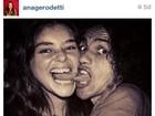 Caetano e Angela Rô Rô em foto direto do túnel do tempo