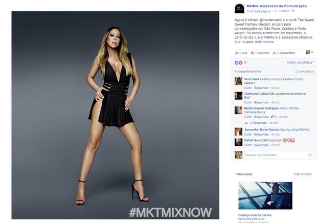 Turnê de Mariah Carey (Foto: Reprodução/ Facebook)