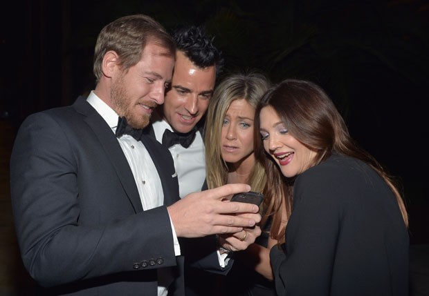 Will Kopelman, Justin Theroux, Jennifer Aniston e Drew Barrymore (Foto: Getty Images)