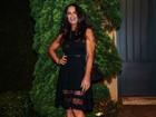 Luiza Brunet arrasa com vestido curto em festa em São Paulo