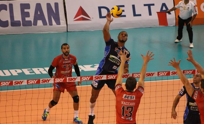 Lucarelli Vôlei Taubaté x Sesi Superliga semifinal (Foto: Rafinha Oliveira/Funvic Taubaté)