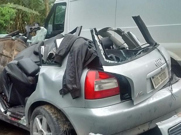 Alta velocidade pode ter causado acidente (Foto: PMRv/Divulgação)