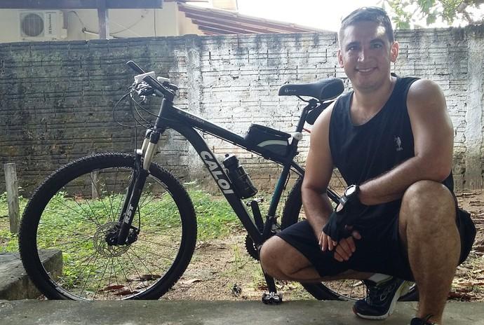 A bicicleta foi a grande companheira no emagrecimento de Magno (Foto: Imagem/Divulgação)