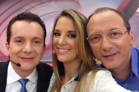 Celso, Ticiane e Britto (Foto: Reprodução)