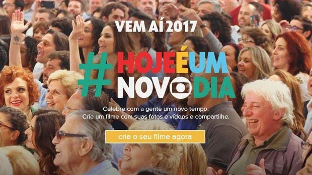Fim de Ano: celebre com a Globo um novo tempo (Divulgação/Reprodução)