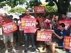 Em Montes Claros, manifestantes declaram apoio à presidente Dilma