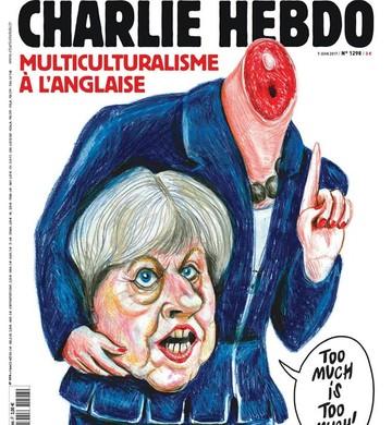 May é alvo de sátira do Charlie Hebdo (Foto: Reprodução)