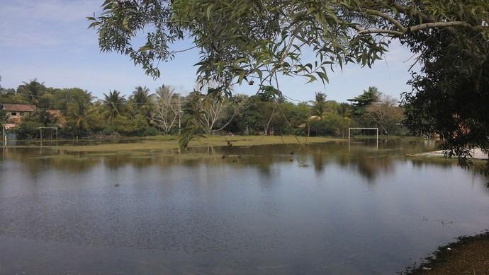 Campo alagado Vila de Santo André (Foto: Divulgação)