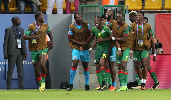 Sibiri Alain Traoré gol Burkina Faso Gana Copa Africana (Foto: Steve Jordan/AFP)