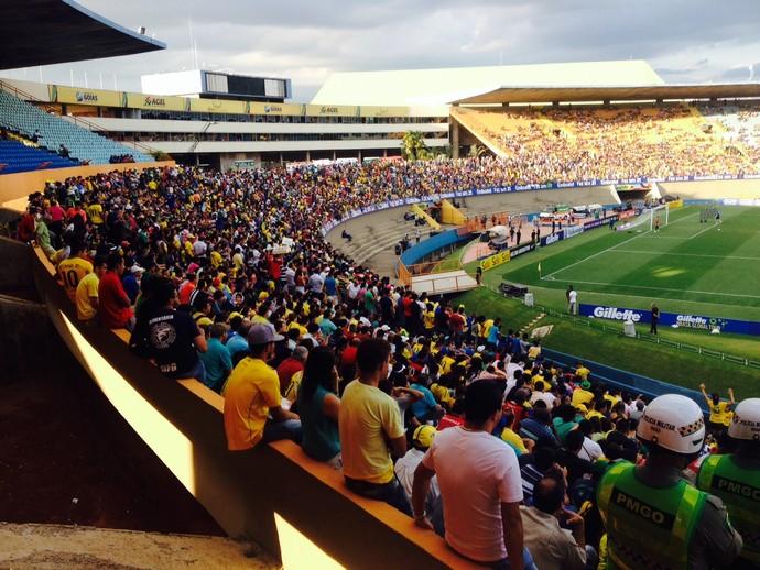torcida Serra Dourada Seleção Brasil (Foto: Marcelo Baltar)