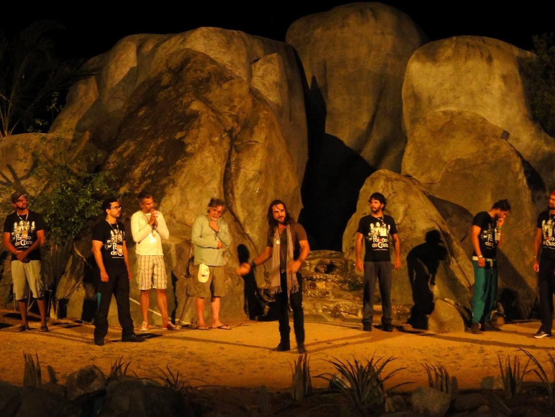 Apresentador do ABTV 2ª Edição também é ator da Paixão de Cristo (Foto: Reprodução/ TV Asa Branca)