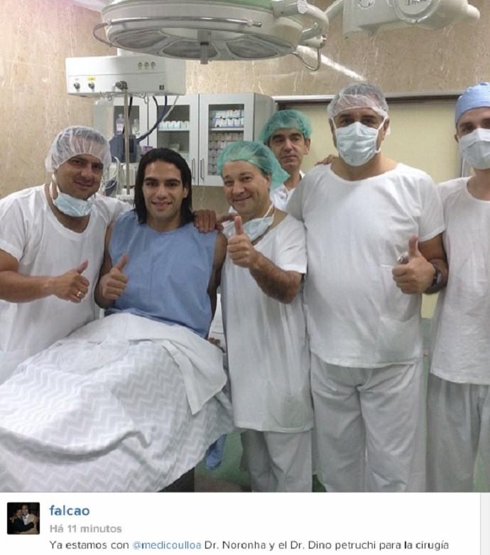 Falcao García cirurgia (Foto: Reprodução/Instagram)