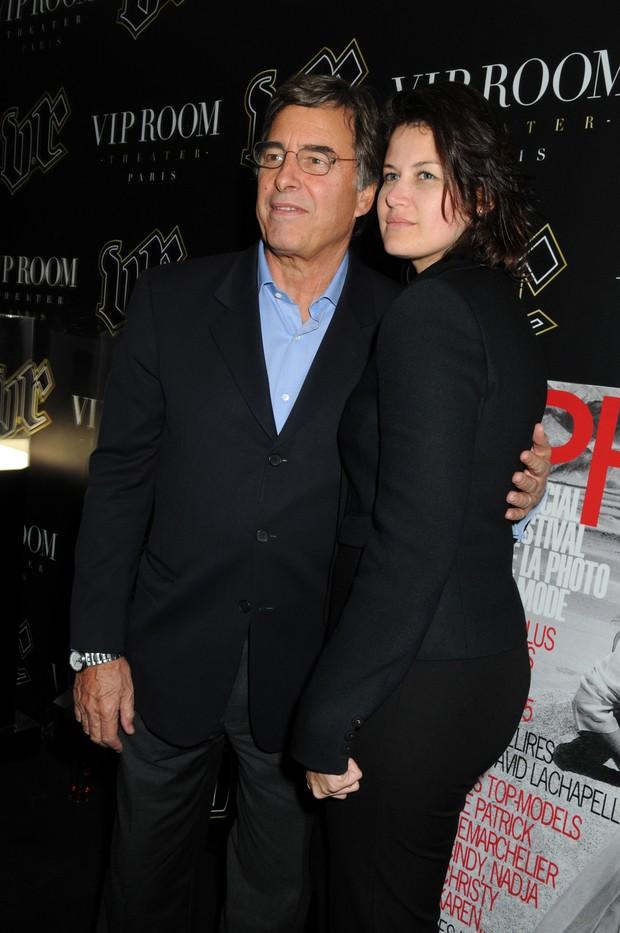 John Casablancas e a mulher Aline Wermelinger em setembro de 2008, na França (Foto: Getty Images/Agência)