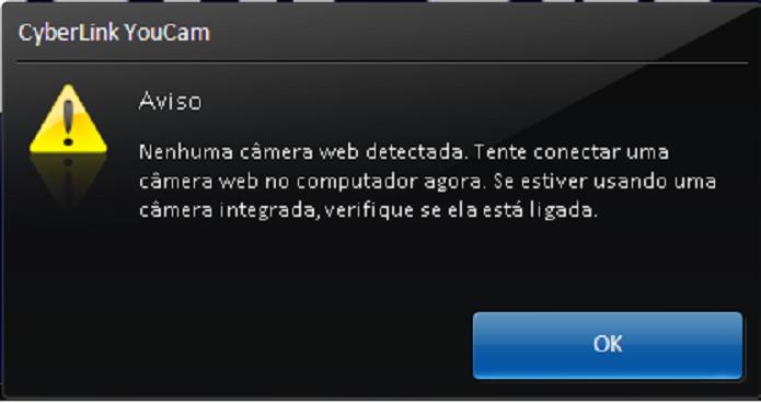 Alerta de webcam não detectada (Foto:Divulgação/HP)