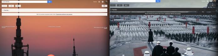 Gmail também ganha templates especiais para cada lado da Força (Foto: Reprodução/Barbara Mannara)