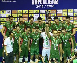 Campinas - vice-campeão da superliga masculina de vôlei (Foto: Divulgação/Vôlei Brasil Kirin)