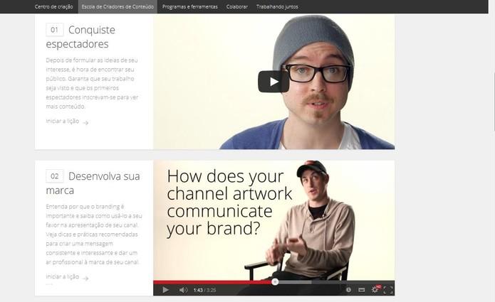 Videoaulas para criação de conteúdo (Foto: Reprodução/YouTube) (Foto: Videoaulas para criação de conteúdo (Foto: Reprodução/YouTube))
