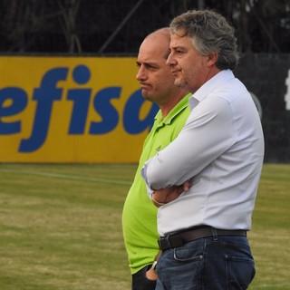 Paulo Nobre e Cícero Souza treino Palmeiras (Foto: Rodrigo Faber)